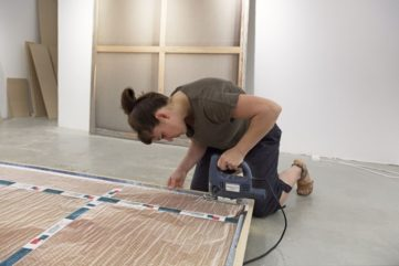 Making of: Daniela Friebel preparing her new work, Paintings, 2015