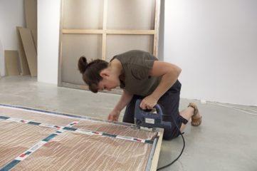 Making of: Daniela Friebel preparing her new work, Paintings, 2015