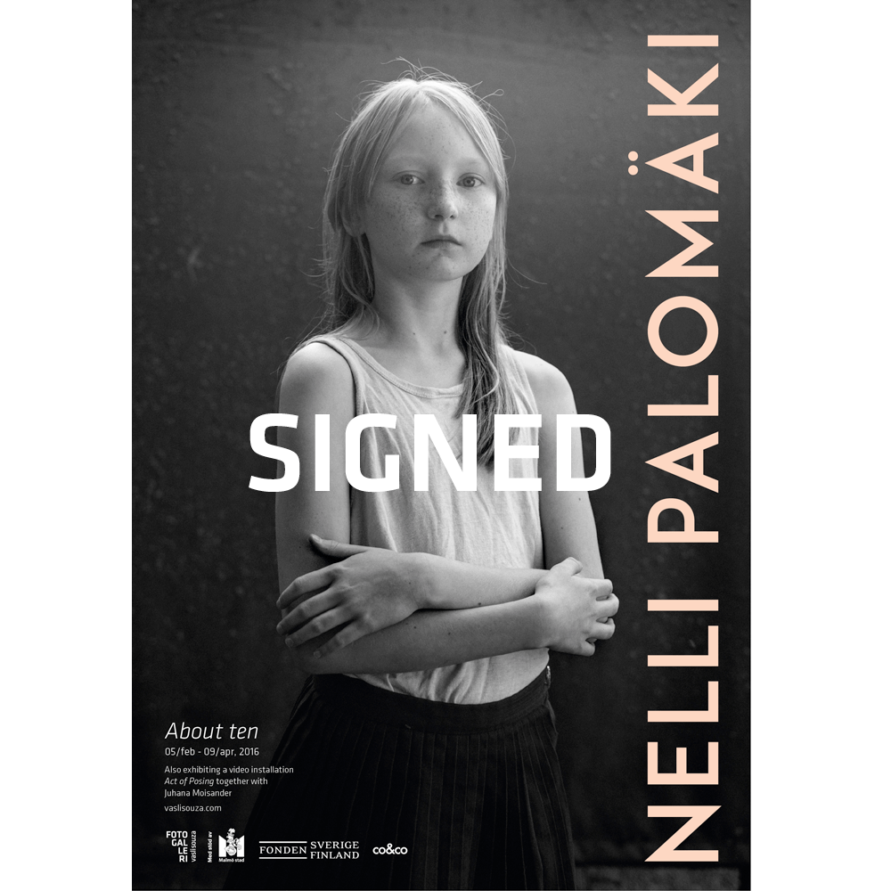 Nelli Palomäki (signed)70x100cm poster, About ten